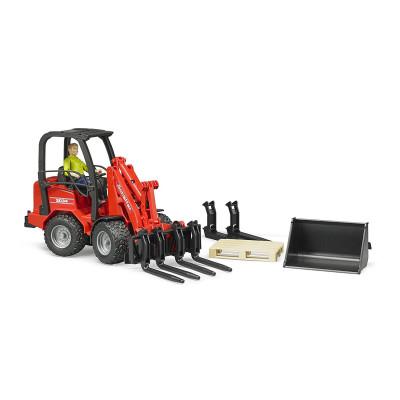 Schäffer Compact loader 2034 con figura y accesorios - escala 1:16