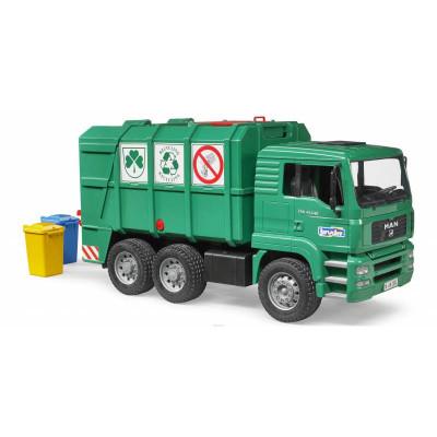MAN TGA camión basura verde - escala 1:16
