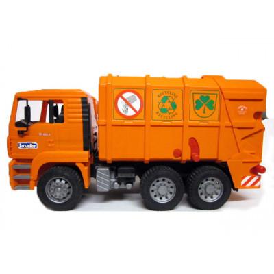 MAN TGA camión basura naranja - escala 1:16