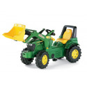 Tractor John Deere con pala a pedales