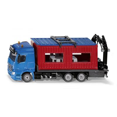 Camión con contenedor de construcción - escala 1:50