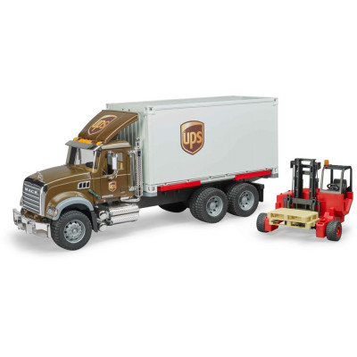 MACK Granite UPS Logistik-LKW con carretilla elevadora - escala 1:16