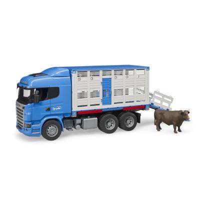 Scania R-Serie - LKW transporte de ganado con buey - escala 1:16
