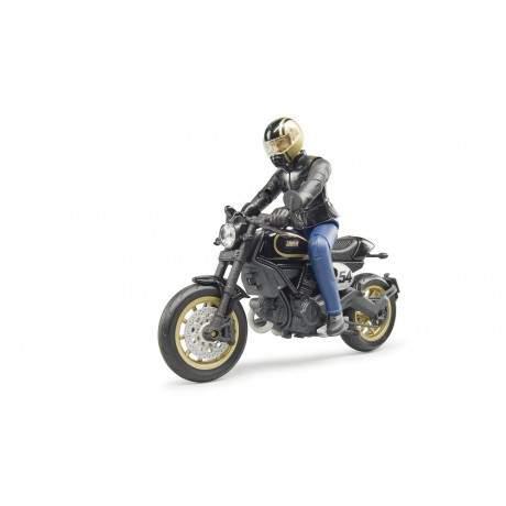 Ducati Cafe Racer y piloto