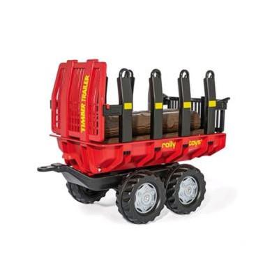 Remolque con Troncos 2 ejes para tractor de pedales