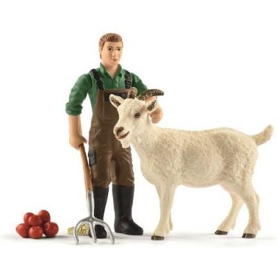 Campesino con cabra