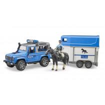 Land Rover policial y caballo