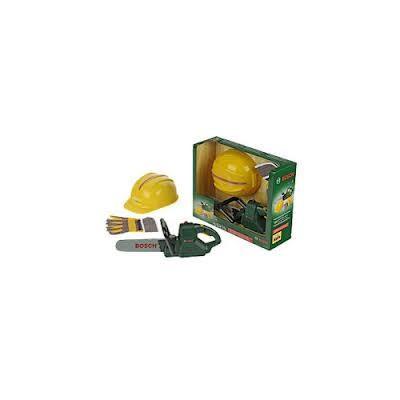 Motosierra, casco y guante Bosch